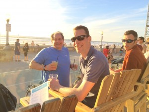 Drinks on the beach in California